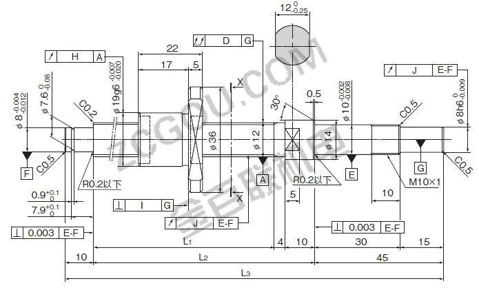 thkbnk1202-3rrg0 154lc3y滚珠丝杠尺寸图纸